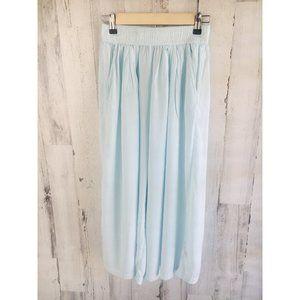 Michael Stars Wideleg Culotte Pants Pastel Blue
